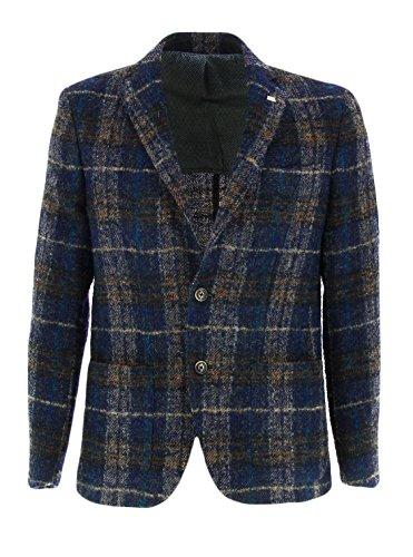 NIK 272106 Barbati Giacca in lana cotta Blu 52 Uomo