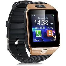 Kivors Bluetooth Reloj Inteligente DZ09, Smartwatch Teléfono Inteligente Pulsera con Cámara Pantalla Táctil Compatible con