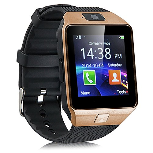 Bluetooth Smartwatch, Fitness Armbanduhr mit SIM Card Slot GSM Sport Watch Activity Tracker mit Kamera Pedometer Smart Gesundheit Armbanduhr Schlaftracker Handy für Android
