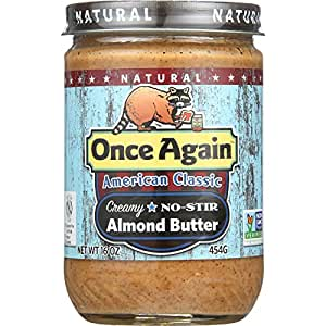 Once Again American Classic Natural Almond Butter 453 g (Pack of 12)