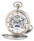 JEAN JACOT C342218 - Reloj de Bolsillo para Hombre (bisagra Doble, Cadena y Estuche, 53 mm de diámetro de la Carcasa)