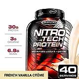 Muscletech Suplemento para Deportistas Nitro Tech Performance Series, Sabor de Vainilla - 1800 gr