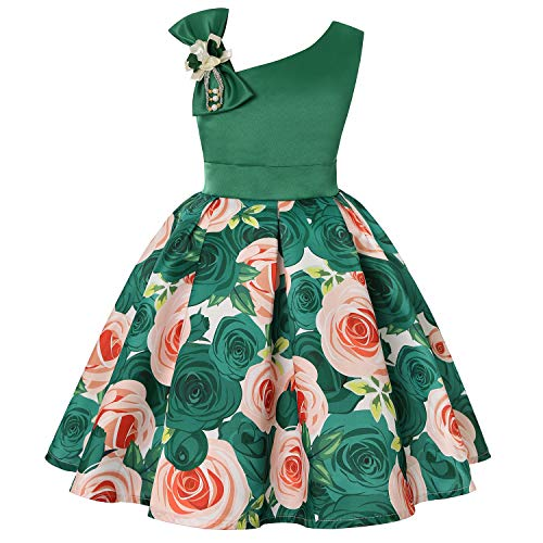 Princess Peach Dress Up - EARIAL& Kids Flower Stripe Dresses for