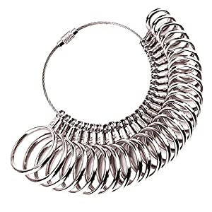 Colorful Ringgrössenmesser & Ringmaßband,Ringstock Ringmaß Dorn Set Ring Messgerät Metall Ring Werkzeug Verlobungsring Ringmaß – Bestimmen Sie Ihre Ringgröße selbst