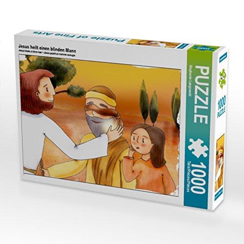 33 Jesus heilt einen blinden Mann Foto-Puzzle Bild von Langowski Stephanie, 1000 Teile, Weiß, Lege-Größe 64 x 48 cm ()