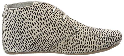Maruti Gimlet Hairon Leather, Stivali Donna Beige (Paint Stripes Off White Black)