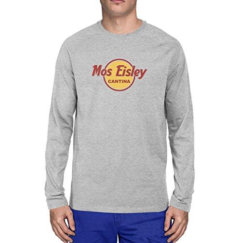 Mos Eisley Cantina - Herren Langarm T-Shirt, Größe: L, Farbe: grau meliert (Chewie Kostüm)