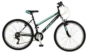 "Falcon Vienne Womens' Mountain Bike Black/Teal, 17"" inch"