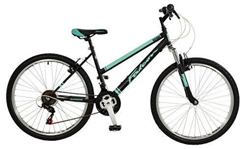 Falcon Vienne Womens' Mountain Bike Black/Teal, 17