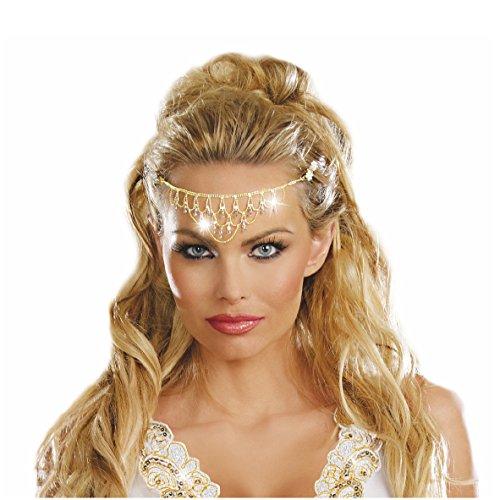 Zarte Stirnbandkette Aphrodite, Cleopatra, (Schmuck Kostüm Aphrodite)