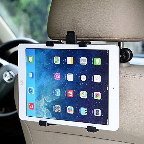 """Preisvergleich Produktbild Auto Kopfstütze Tablet Halterung 360° Grad einstellbar rotierende Universal KFZ Rücksitz montieren für Apple iPad 2/3/4/Mini/Air/Pro,Samsung Galaxy Tab,Microsoft Surface und andere 7""""-11"""" Tablet PC"""