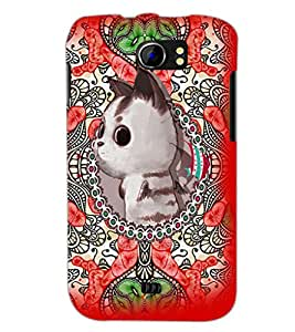 PrintDhaba Kitty D-3679 Back Case Cover for MICROMAX A110 CANVAS 2 (Multi-Coloured)