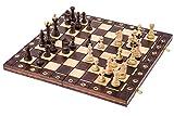 Schach Schachspiel - CONSUL LUX - 48 x 48 cm - Schachfiguren & Schachbrett aus Holz