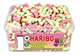 HARIBO TUB SWEETS - Full Tubs & Various Different Weights To Choose From (Rhubarb & Custard, Full Sealed Tub)