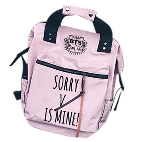 an Rucksack is Mine Schultasche Bag Reisetasche Notebooktasche Suga Jimin Jin Jung Jook J-Hope Rap-Monster Rosa V Einheitsgröße ()