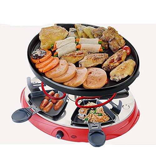 Runde elektrische Grillplatte Startseite Elektrischer Ofen Rauchlose elektrische Barbecue Grill Barbecue Topfmaschine koreanischen Stil Teppanyaki