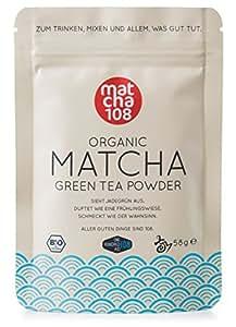 Matcha 108 - 58g Matcha Tee in Premium Qualität / Grüner Tee aus kontrolliertem Bio Anbau - Ceremonial Grade - Grüntee-Pulver 100% direkt von der Plantage