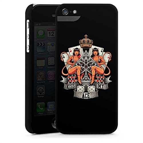 Apple iPhone X Silikon Hülle Case Schutzhülle Poker Ass Spruch Premium Case StandUp