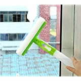Trady 3 in 1 Spray Type Cleaning Easy Glass Wiper Window Clean Shave Car Cleaner Brush, Standard, Random Colour