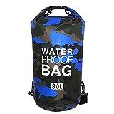 Sacca Impermeabili Borsa Waterproof Borse Impermeabili Dry Bag con Tracolla Regolabile, Una Spalla o Alle Spalle, per Attività all'Aperto e Sport d'Acqua (blu scuro, 30L)