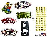 6Skateboard Stickers muraux en vinyle, vous Choisissez, ordinateur portable iPad bagages casque de vélo de voiture + 43gratuit Smiley Stickers...