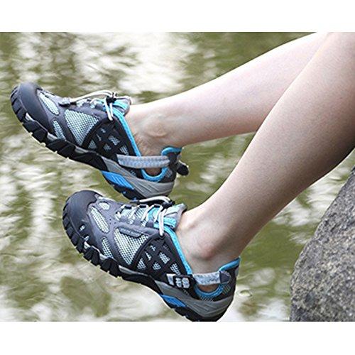 SGoodshoes Herren Damen Wanderschuhe Outdoor Schnell Trocknend Aquaschuhe Trekking Wanderstiefel Blau