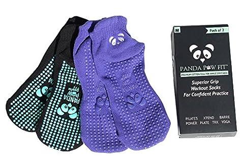 Les Meilleures Chaussettes Luxurieuses De Yoga Antidérapantes De Bambou Pour Pilates| Bikram| HOT Yoga| Ashtanga |Hôpital De Réadaptation| Écologiques| Aération| Chaussettes Avec Des Semelles Antidérapantes Pour Une Stabilité Optimale