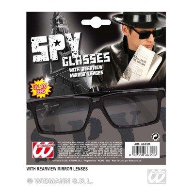 WIDMANN Kgb Spion-Brille mit Rückspiegel-Gläsern verkleidet Neuheit Brille Spezifikationen & Schattierungen für Kostüme Zubehör