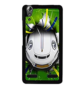 PrintVisa Metal Printed Crazy Car Designer Back Case Cover for Lenovo A6000 Plus-D5087