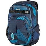 Nitro Chase Rucksack, Schulrucksack mit Organizer, Schoolbag, Daypack mit 17 Zoll Laptopfach,  Fragments Blue