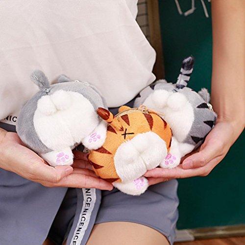 BZLine® Cute Katze Butt Tail Plüsch Handtasche Crossbody Schultertaschen Geldbörse A