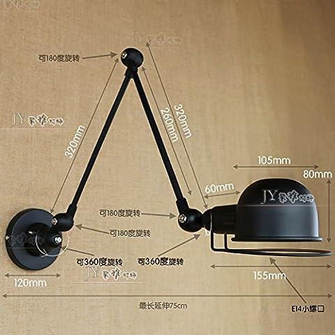 QWER Extra-Long Arm Tri-Scopic Bügeleisen Lampen Kopf Cafe Deck französische