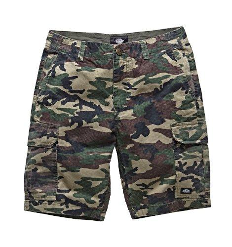 Dickies - New York, Pantaloni corti da uomo, Multicolore (Camouflage), W34 (Taglia Produttore: 34)