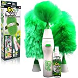 Valamji 4 In 1 Creative Hand-held, As Seen On Tv Go Dust Electric Feather Spin Home Duster. (Green)