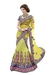 Mahotsav Womens Net , Art Silk Velvet Lehenga Choli ( 6430 )
