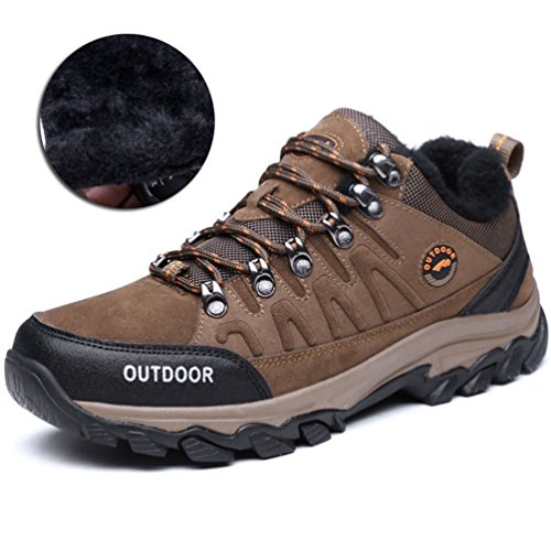 Hommes Chaussures Escalade Coton Chaud Hiver Épais Semelle Sport Grand Taille Randonnée