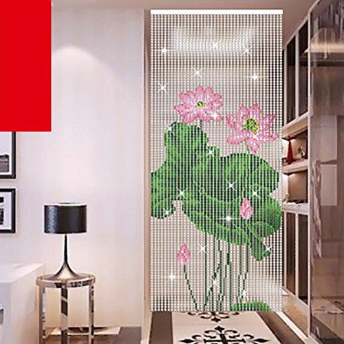 80 * 180cm Abalorios cristal estilo chino lotus,Granos