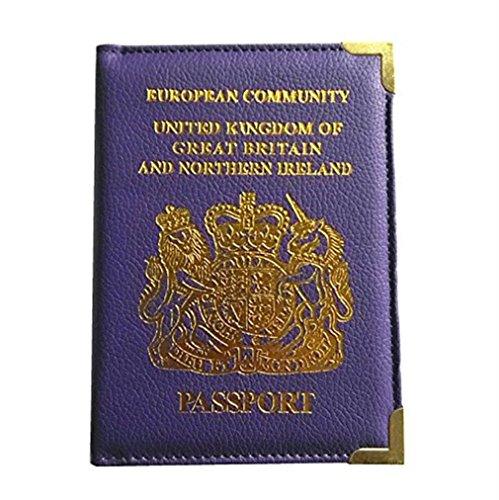 Prot¨¨ge Passeport Faux cuir Passeport Titulaire Cas de Couverture Pour Hommes Femmes Voyage Voyage Passeport ID Carte Titulaire Cas Couverture Organisateur Passport Protecteur par SamGreatWorld