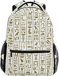 2a996aed82 COOSUN Antico Egitto Geroglifici casual Daypack sacchetto di scuola dello  zaino di viaggio Multicolore