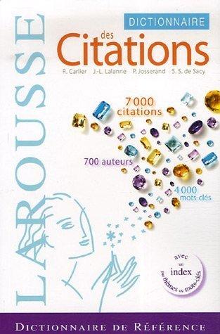 Dictionnaire des citations franaises