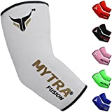 Mytra Fusion Elbow Brace Elbow Protector Arm Protector Farabi Elbow Brace Support injury relief Elasticated Elbow Support Sleeve Tennis elbow, Golfers Elbow, Arthritis, Injury recovery Elbow Support A (S/M, White)