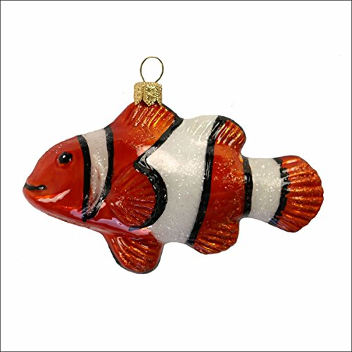 440s Glashänger Clownfish   (Zweige Glitter Orange)