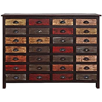 butlers moriani sideboard mit 28 schubladen apothekerschrank aus altem holz bunt lackierte. Black Bedroom Furniture Sets. Home Design Ideas