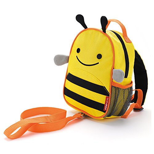 Skip Hop Zoo Rucksack, für Kinder, mit Leine, Sicherheitsleine, mehrfarbig, Biene Brooklyn
