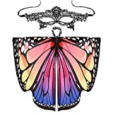 iYmitz Femmes Papillon Ailes Châle Écharpes Dames Nymphe Pixie Poncho Costume Accessoire Women Butterfly Wings Shawl Scarves Ladies Nymph Pixie Poncho Costume Accessory