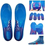 chinkyboo Massaging Silicon Gel insoles for Sore Feet Relief, Shock Absorption, Running / Hiking