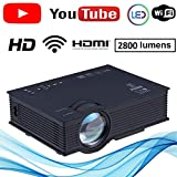 NISHICA UC46-YT WiFi LED HD Projector 1920 x 1080P 2800 Lumens
