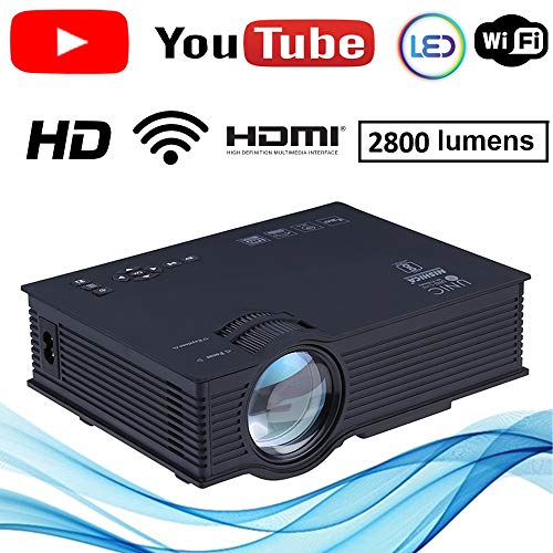 NISHICA UC46-YT WiFi LED HD Projector 1920 x 1080P 2800 Lumens (in Built YouTube)