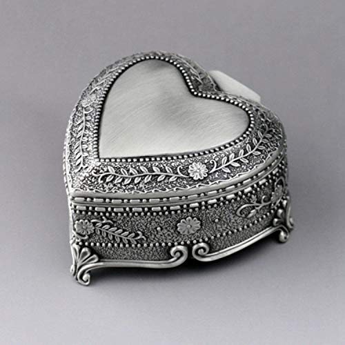 Carillon in rilievo a forma di cuore, carillon in metallo con movimento a orologeria, decorazione domestica, regalo unico