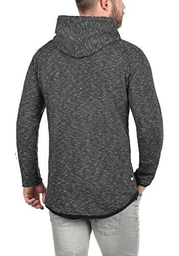 REDEFINED REBEL Malik Herren Sweatjacke Kapuzen-Jacke Zip-Hoodie aus hochwertiger Baumwollmischung Meliert Black